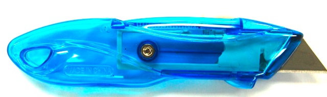 Utility Knife - Retractable, Translucent (12 per case)