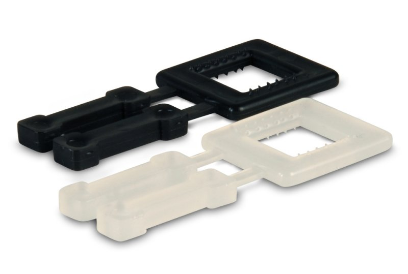 "Plastic Strapping Buckle - 5/8"", White"